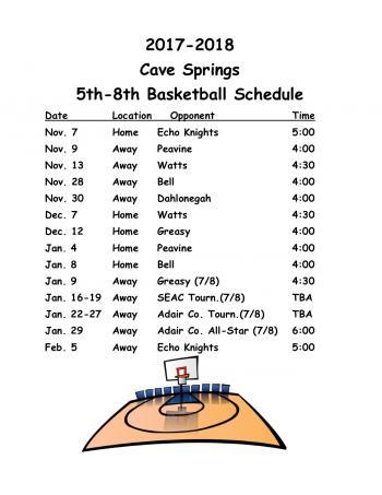 5th-8th grade schedule