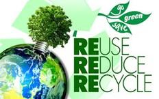 Go green save reuse reduce recycle