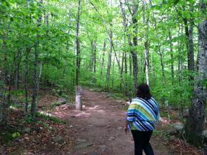 Hiking at Acadia National Park in Maine.