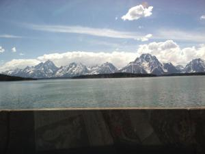View of the Grand Tetons from Jenny Lake.
