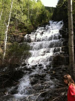 Waterfall in Glacier National Park.