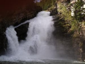 Cameron Falls at Waterton National Park in Canada.