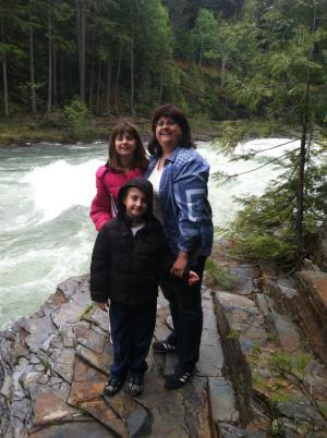 Hiking along the river at Glacier National Park