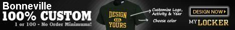 Bonneville 100% Customer 1 or 100 - No Order Minimum Design XXl Yours Customize Log, Activity & Year Choose Color