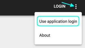Login Use Application Login