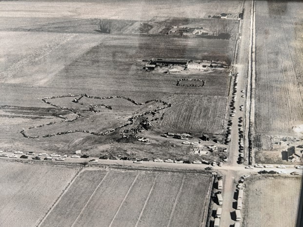 Old Original Photograph of Field Where Rocky Mountain Middle School Was Built