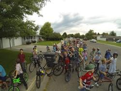 Students Bike Ride in the community