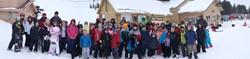 students at the ski resort