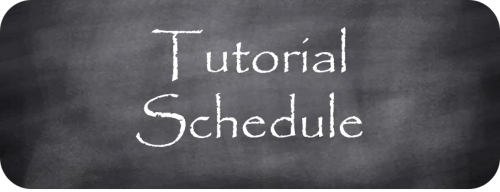 Tutorial Schedule