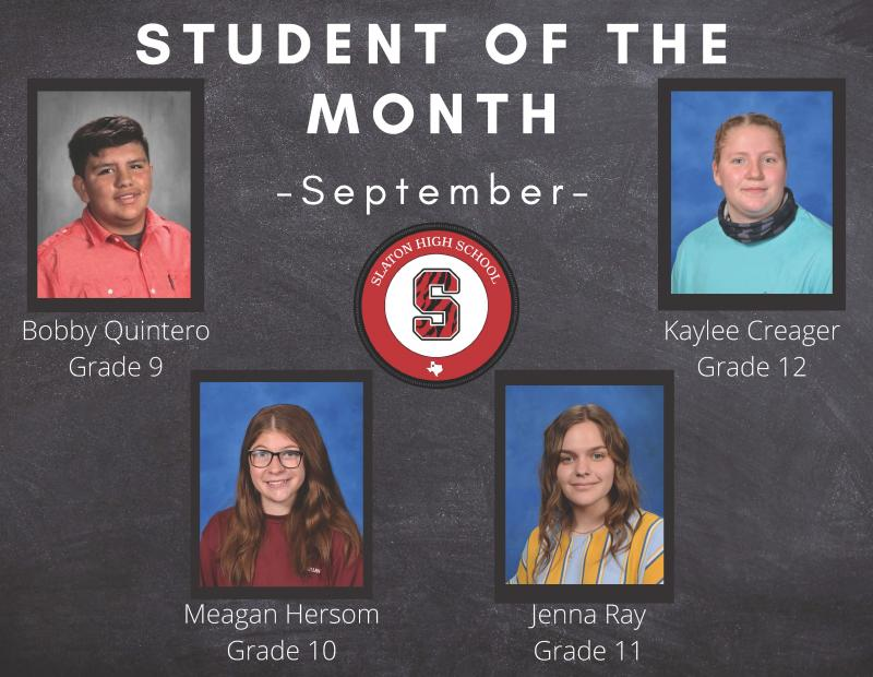 September Teacher/Students of the Month