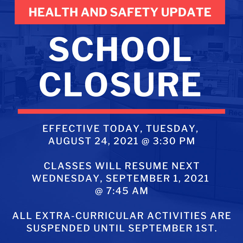 Health and Safety Update - School Closure