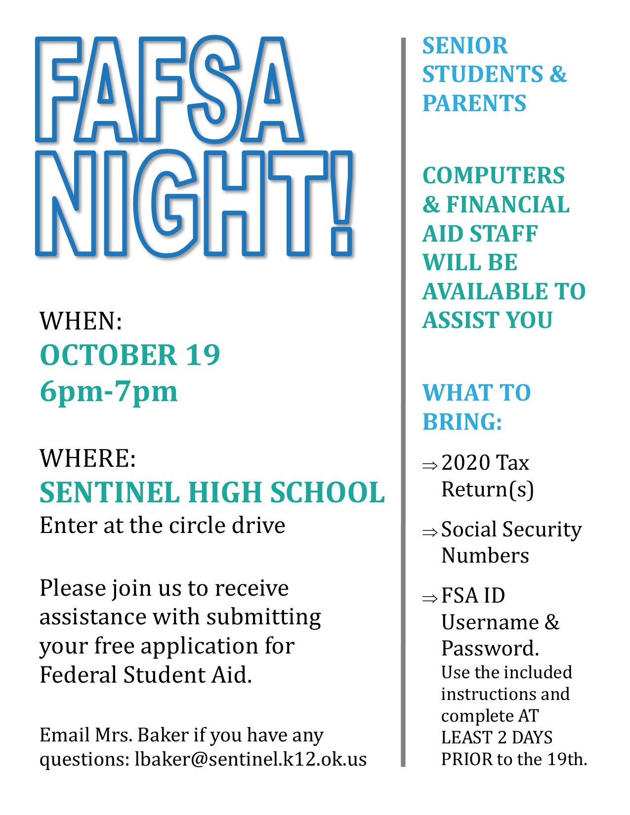 FAFSA Night Flyer