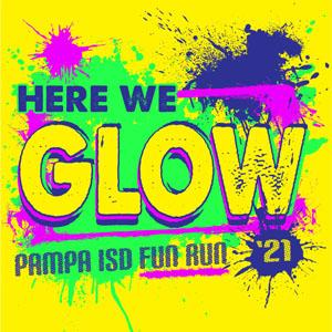 Pampa ISD Here We Glow Family Fun Run