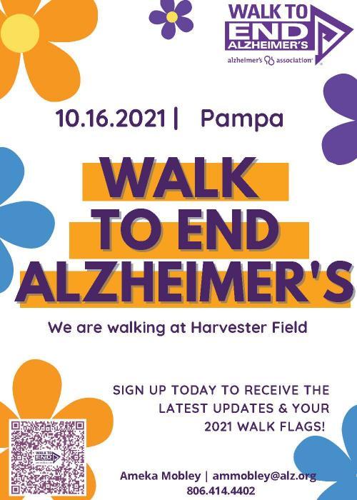 Alzheimer's Walk Flyer Oct 16