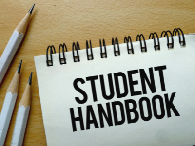 Student Handbook spiral notebook