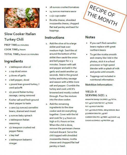 October Recipe