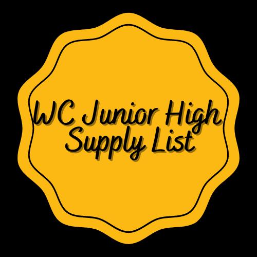 WCJH Supply List