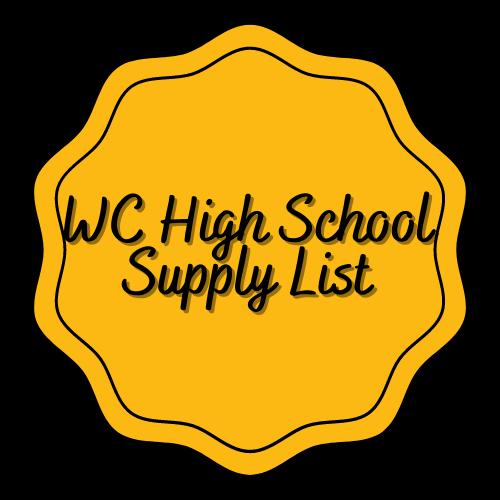 WCHS Supply List