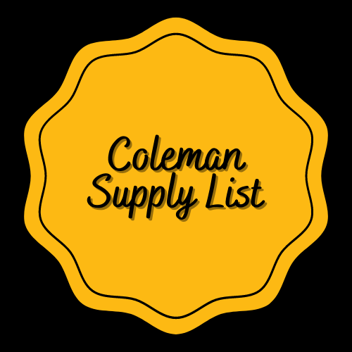 Coleman Supply Lists