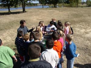 5th Grade students talking about the importance of topsoil