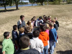 5th Grade students learning about types of soil in Oklahoma
