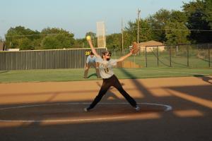 Kate pitching