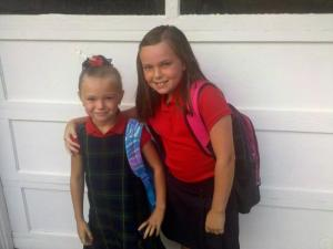Jadyn and Janelle-1st day of school