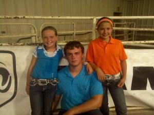 Janelle, Jarod and Hayley--Champion Showmanship winners