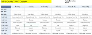 Schedule Part 1
