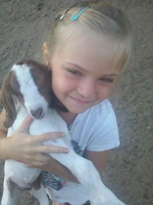Jadyn and her baby goat