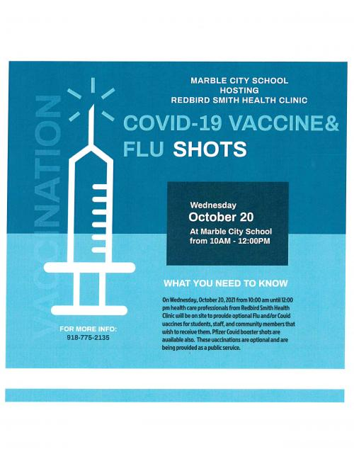 Redbird Smith Health Clinic on site vaccine clinic.