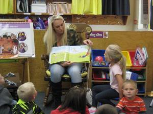 Sadie's mom reading to the class!