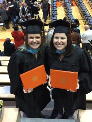 I graduated from Baker University with a Master of Arts in Education! Mrs. Reynolds, first grade teacher at Ameila Earhart Elementary, and I took classes together!