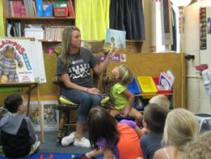 Rylee's mom reading to the class!