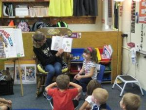 Grace's mom reading to the class!
