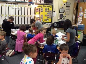 Frankenbuddies with Mrs. Jenning's 4th graders!