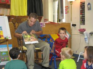 Cooper's dad reading to the class!