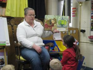 Karlie's mom reading to the class!