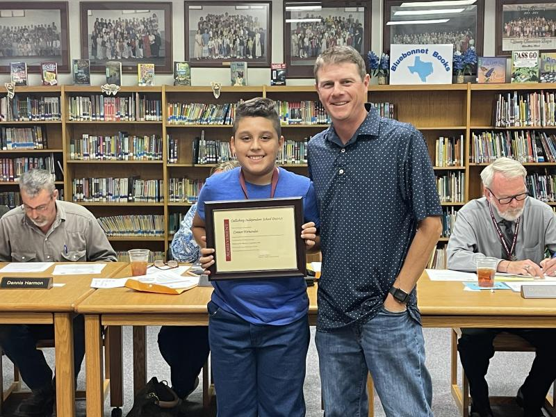 Connor Hernandez - Student of the Month for September
