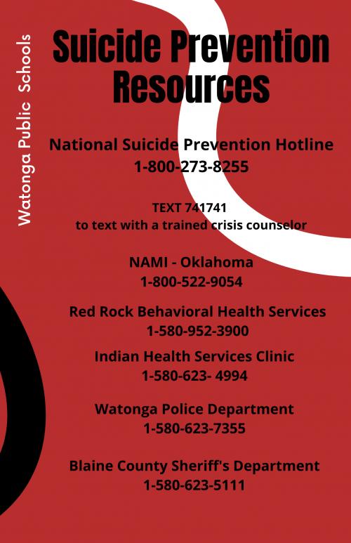 Suicide Prevention Resources