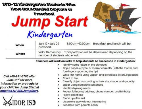 Kindergarten JumpStart '21