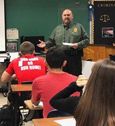 Chief Sanchez teaches safety