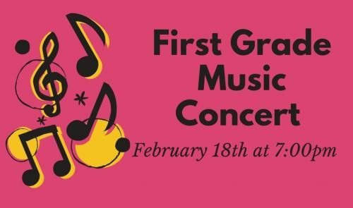 First Grade Music Concert