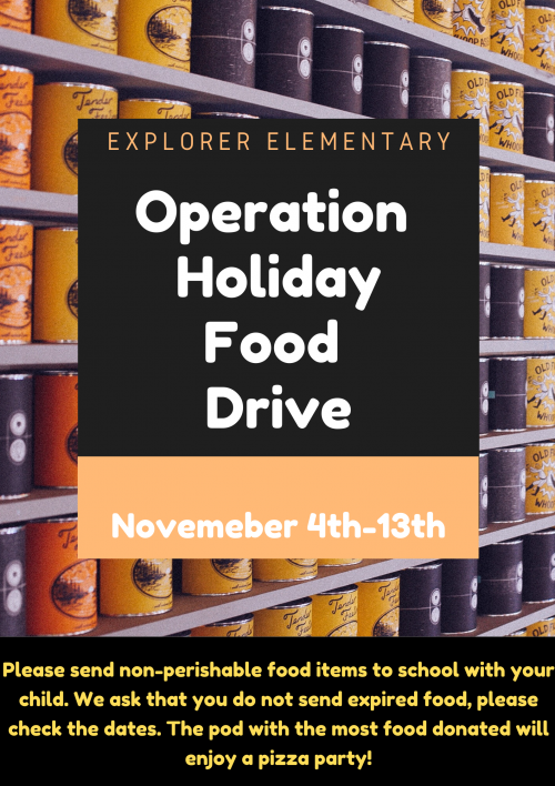 Operation Holiday Food Drive