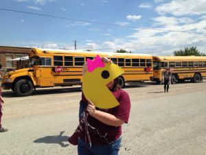 Mrs. Pacman is ready for the parade