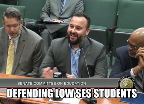 Superintendent at the Senate Committee of Education