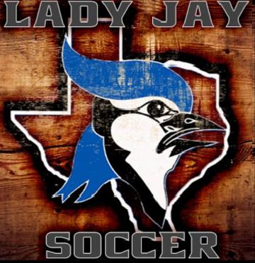 Lady Jay wooden Soccer Logo