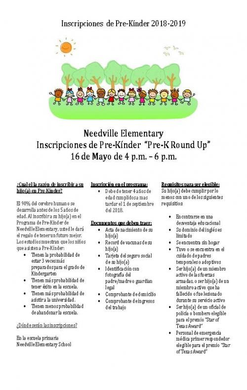 Pre-K Registration SP