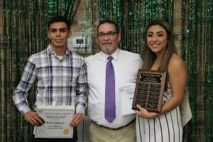 Cross-Country Outstanding Boy & Girl:  Ryan Corralez & Brittany Ruiz