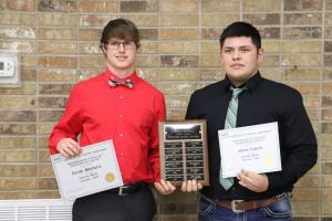 Football Fighting Heart Award:  David Birdwell & Aidan Carlos